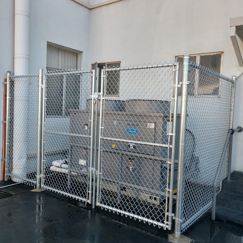 7ft high Chain Link Enclosure